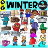 Winter A to Z Clip Art Set {Educlips Clipart}