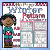 January | Winter | AB | AAB | ABB | ABC | Patterns Worksheets Packet