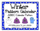 Winter ABBC Pattern Calendar- Pieces