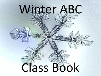 Winter ABC Book-You Pick The Pages You Want!