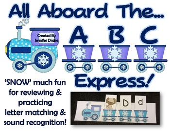 Winter ABC Express! 'SNOW' Much Fun w/ Letter & Sound Matching On A Winter Train