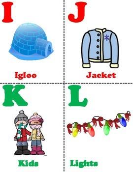 Winter ABC/LITERACY Cards!