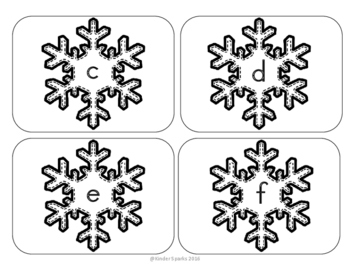 Winter ABC Letter Matching Game