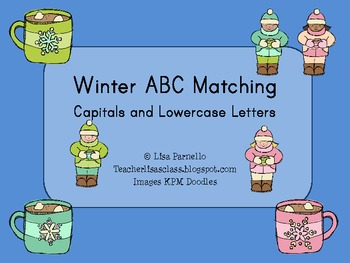Winter ABC Matching Freebie
