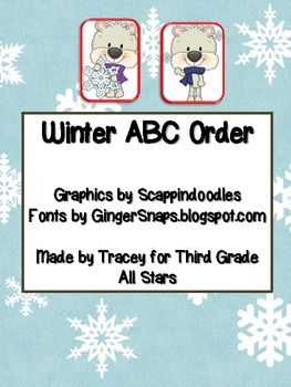 Winter ABC Order Card Game