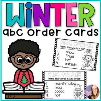 Winter ABC Order Task Cards