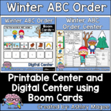 Winter ABC Order Center - Printable and Digital or Distanc
