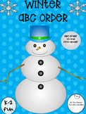 Winter ABC Order Fun Literacy Center or Independent Skills