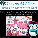 Winter ABC Order Literacy Center & Worksheets