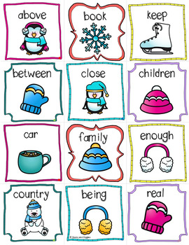 Winter ABC Order Literacy Center & Worksheets