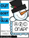 Winter ABC Order Sorts (3 Levels)
