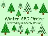 Winter ABC Order activity