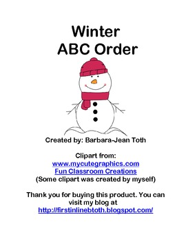 Winter ABC Order by First Letter