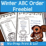 Winter ABC Order {free}