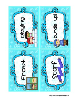 Winter ABC Order to the 2nd Letter Center Activity