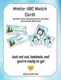 Winter ABC's Match Cards