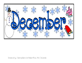 Winter ABCD Pattern Calendar- Pieces