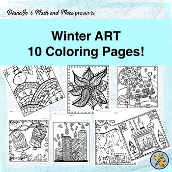 Winter ART! Coloring Pages BUNDLE