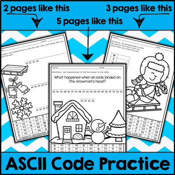 Winter ASCII Code STEM Activities