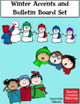 Winter Accents and Bulletin Board Set by Karen's Kids (Dig