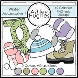 Winter Accessories 1 Clipart {A Hughes Design}