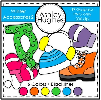 Winter Accessories 2 Clipart {A Hughes Design}