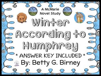 Winter According to Humphrey (Betty G. Birney) Novel Study