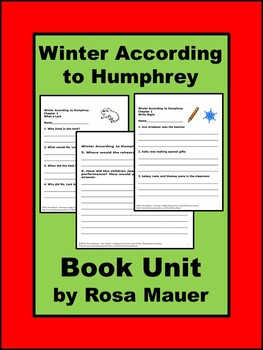 Winter According to Humphrey Book Unit