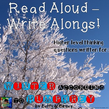 Winter According to Humphrey Read Aloud Write Along