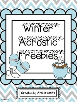 Winter Acrostic Freebies