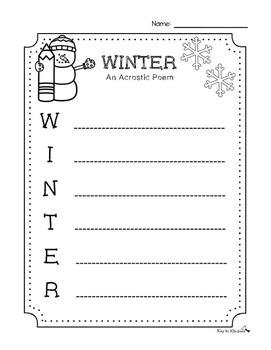 Winter Acrostic Poem