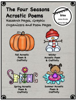 Seasons Acrostic Poem & Craftivity - Graphic Organizers, Poem Pages & Craftivity