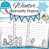 Winter Activities - Acrostic Poems (22 poems to print and go)