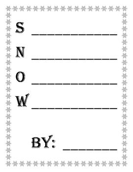 Winter Acrostic Poems