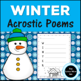 Winter Acrostic Poems Creative Writing Activity