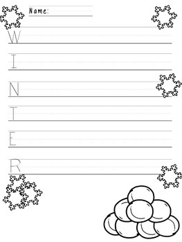 Winter Acrostic Poems (FREEBIE)!