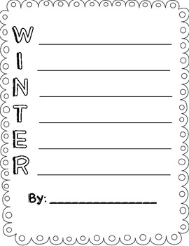 Winter acrostic poems freebie by smiles from second grade tpt winter acrostic poems freebie pronofoot35fo Choice Image