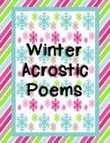 Winter Acrostic Poems {Freebie!}