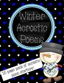 Winter Acrostic Poems Pack