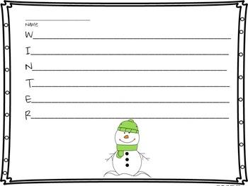 Winter Acrostic Poetry Bundle