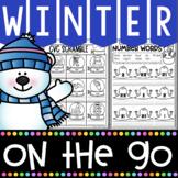 Winter Activities for Kindergarten Math & Literacy No Prep Printables