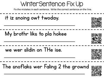 Winter Word Work Activities