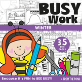 Winter Activities for Kindergarten No Prep Busy Work