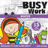 Winter Activities for Kindergarten No Prep Busy Work
