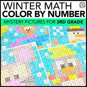 3rd Grade Winter Activities: 3rd Grade Winter Math (Color-