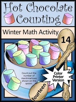 Winter Math Activities: Hot Chocolate/ Hot Cocoa Counting Winter Math Activity
