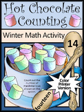 Winter Math Activities: Hot Chocolate-Cocoa Counting Winter Math Activity -Color