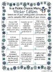 Winter Choice Board Writing Activities, Game, Rubric, &  T