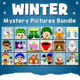 December Art Activities, Winter Coloring Worksheets, January Mystery Picture