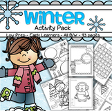 Winter Printables NO PREP for Preschool and Pre-K Distance Learning 95 pages